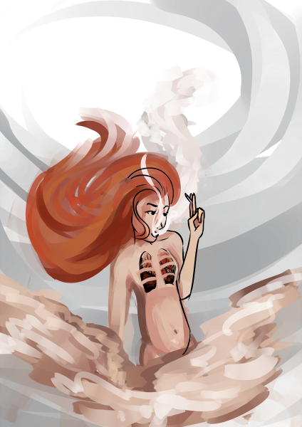 Smoking a Cigarette by animatedCatastrophe