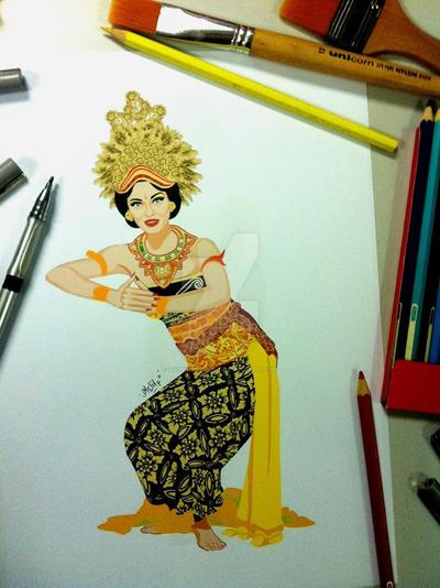 Oleng Tamulilingan Dance by zichonilpindi
