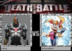 DEATH BATTLE - cyborg vs Bunnie Rabbot by matthew3d
