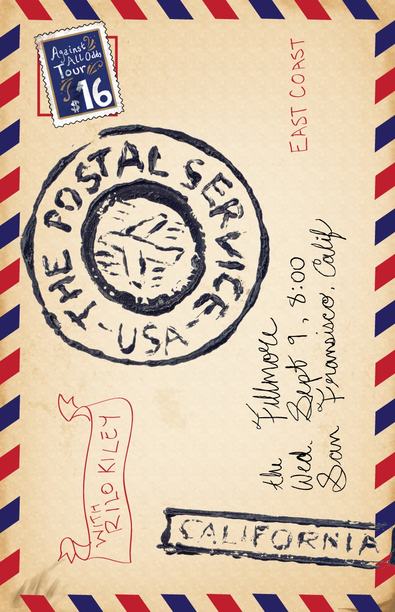 The Postal Service Poster By FlightyMcLoud The Postal Service Poster By  FlightyMcLoud