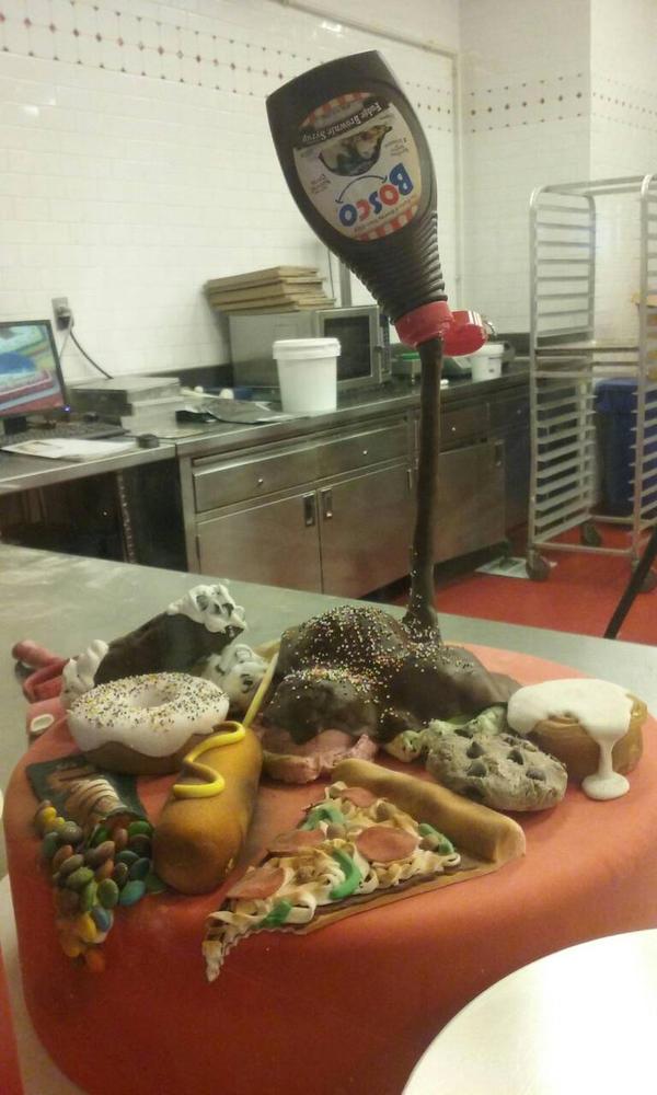 A cake full of sweets by DJ-rainbine