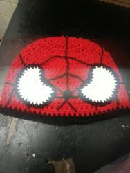 Spider-Man hat by tokniTORNOTTOknit