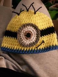 Minion hat by tokniTORNOTTOknit