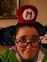 Baby Mario hat