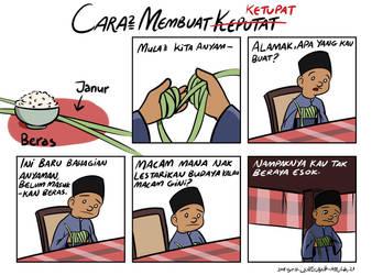 How To Make Ketupat (Translated)