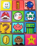Super Mario Coasters by alegwene