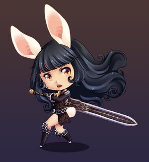 Rabbit goes RAWR!