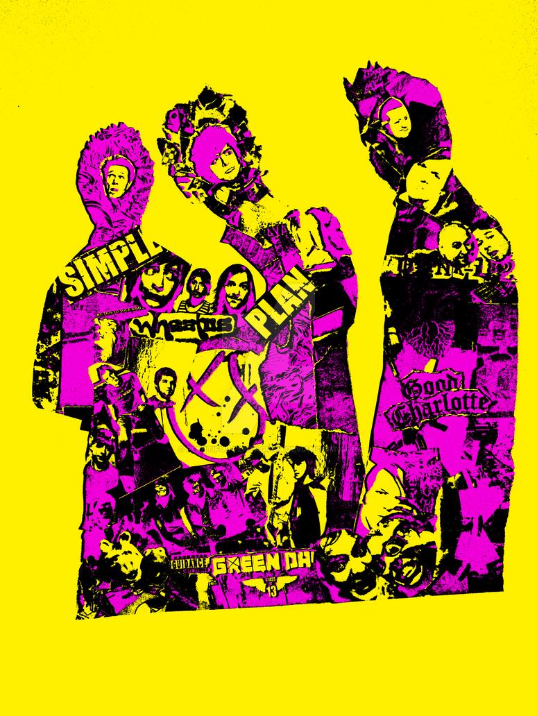 Pop punk pop art - various band collage VI by Plentiful ...