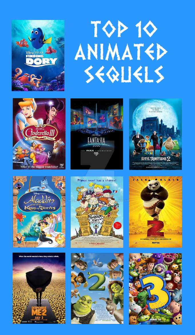 Top 10 Favorite Animated Sequels by Mccraeiscook2017205