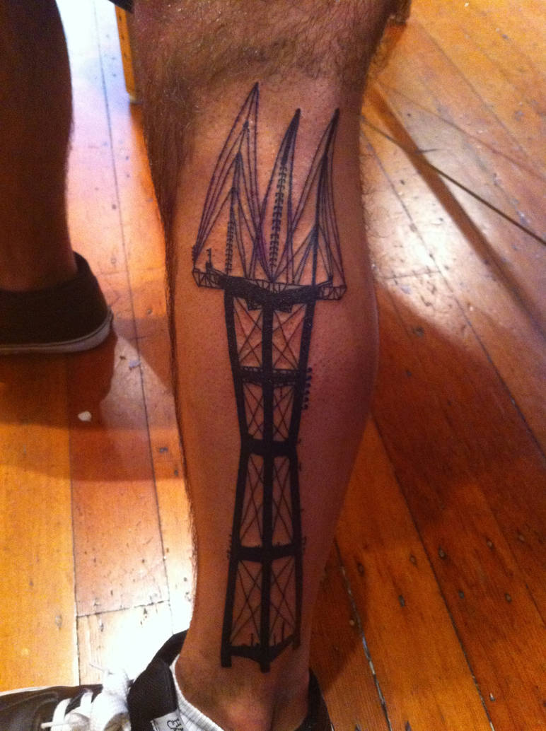 Sutro Tower Tattoo by LotusJet