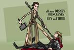 all-new Disney princesses - Rey and Thor