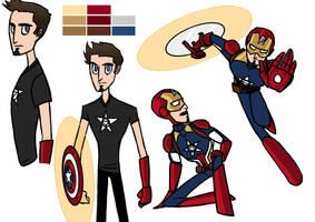 Avengers Fusions - Stony by DKettchen