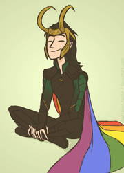 Rainbow Loki by DKettchen