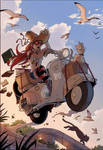 Little witch and her Vespa. by VanOxymore