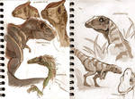 Dinosaurs sketches.