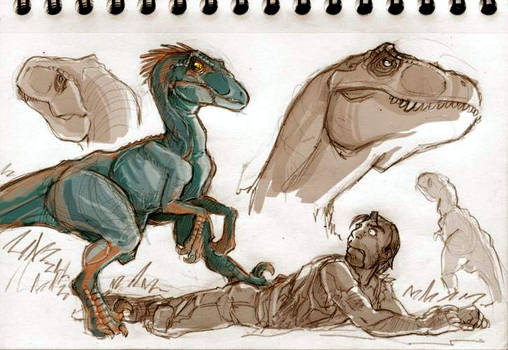Dinosaurs sketches part 03