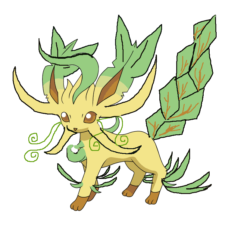 Coloring Pages Leafeon Pokemon Free