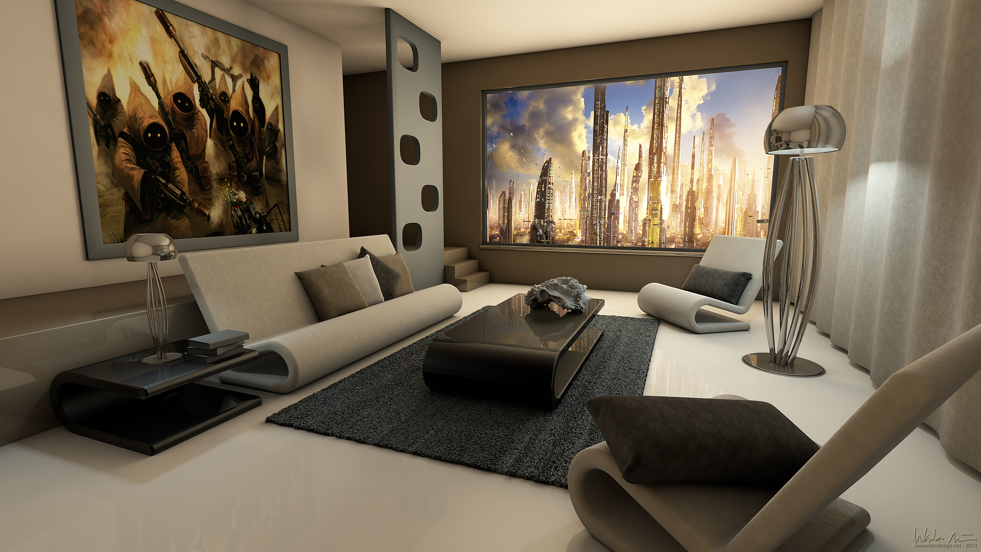 ... Modern Living Room   Wade Nein   3D Midterm By Wadenein Part 57