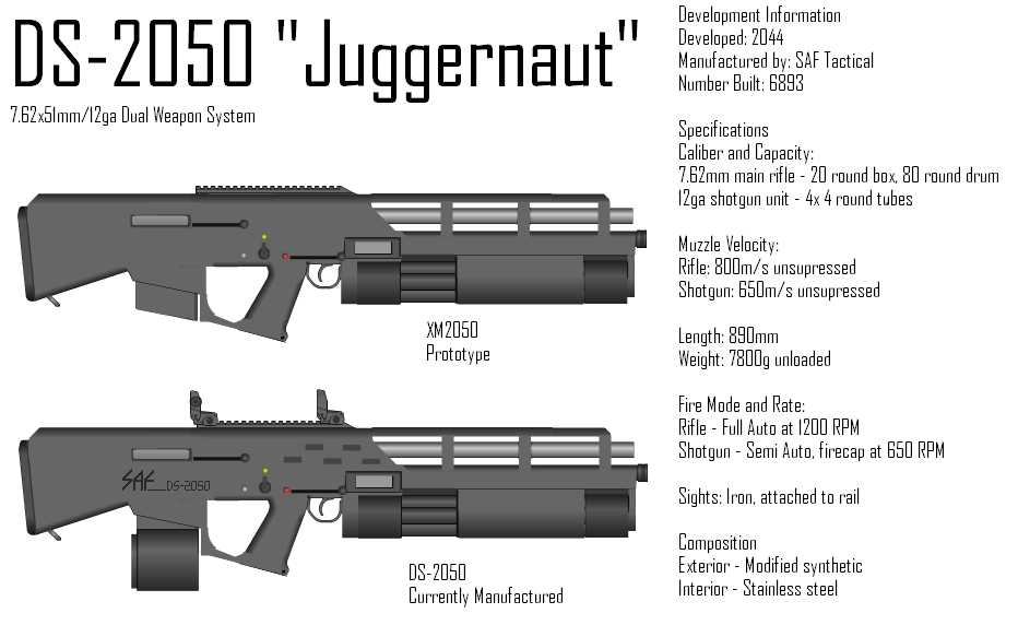 SAF Tactical DS-2050 by GrimReaper64