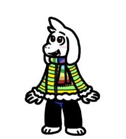 Asriel in Winter Clothes by CitrusChao