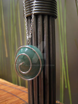 Spiral Agate Pendant