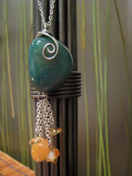 Stone and Agate Pendant
