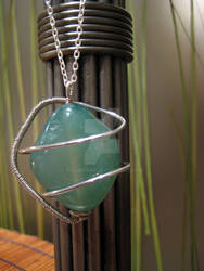 Wire-wrapped Agate Pendant