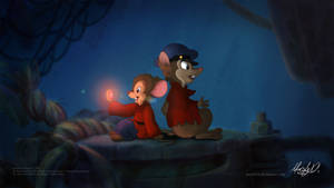 Fievel and Mrs. Brisby - Sharing