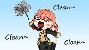 Annette cleaning the Library (Fire Emblem 3 House) by Reg3e