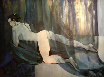 shunga series - male nude by JeffreyD