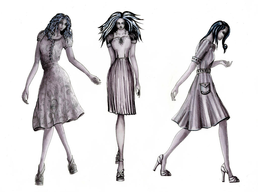 three dresses exercise by Tavlaza