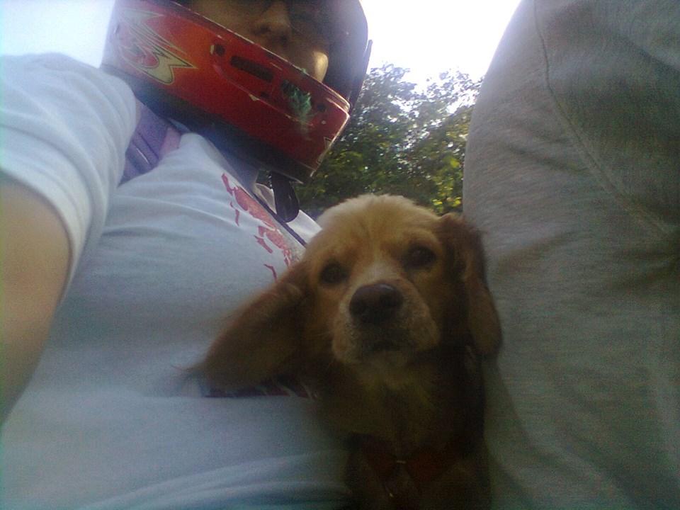 paseando en moto con papis by lakyvaquero