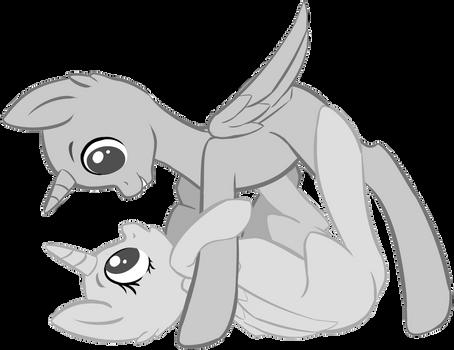 Pony Couple Base v.2 +Paint version