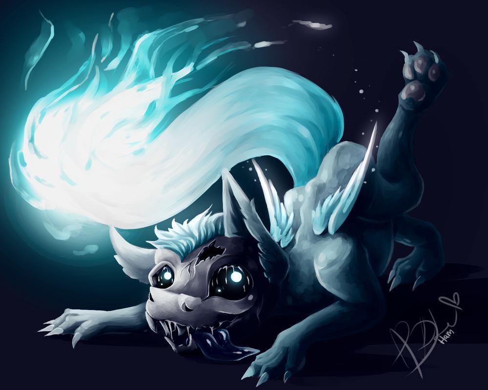 Burning Skelly Doggo by HamaTTe