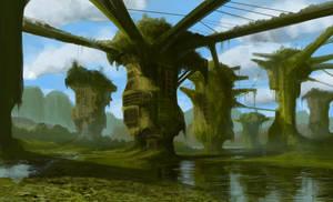 Swamp habitat by phillhosking