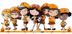 fireside girls collage