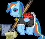 Rainbow Dash maid