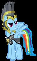 Rainbow Dash in her armor by Kooner-cz