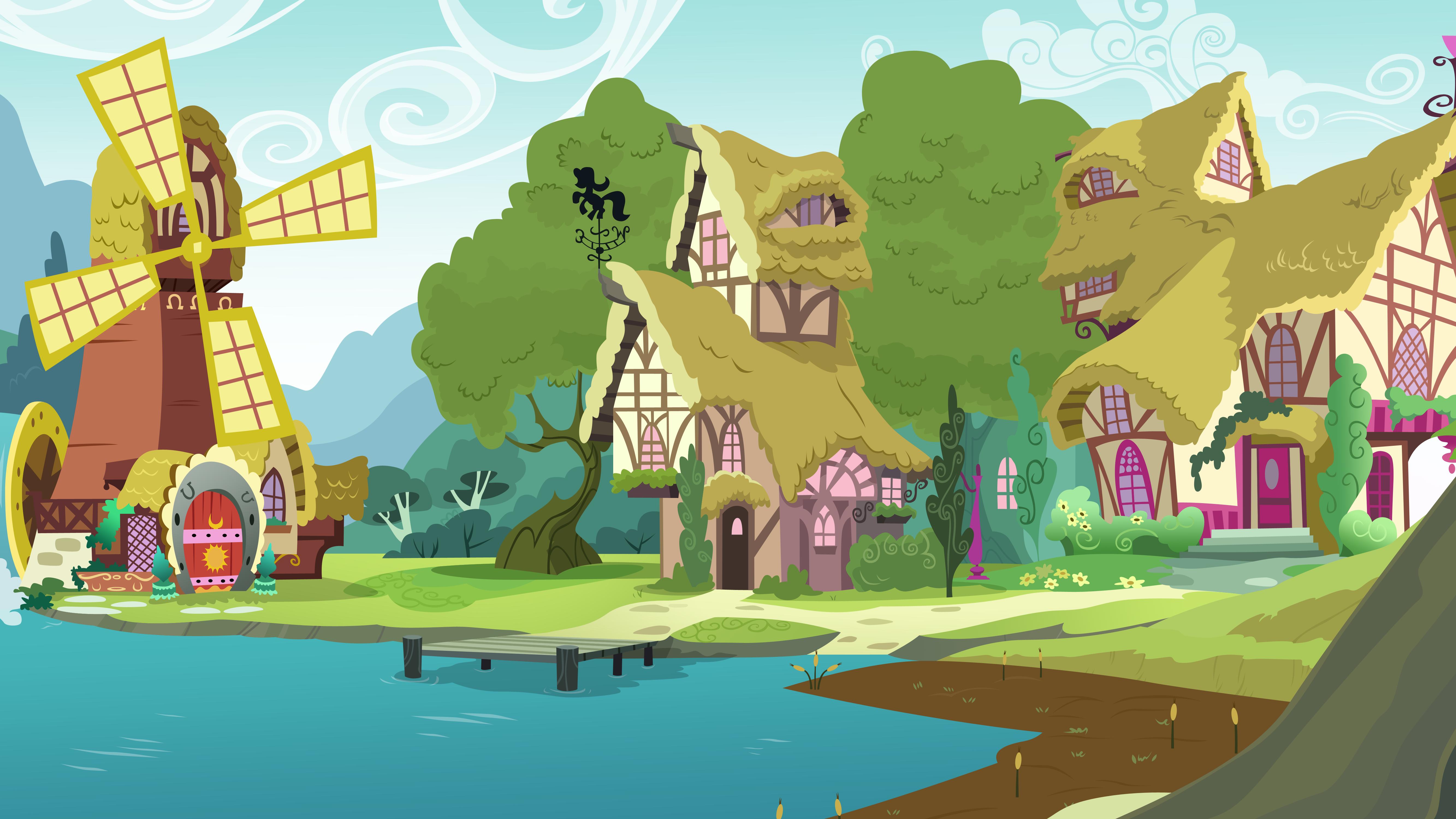 Ponyville Riverside by Kooner-cz