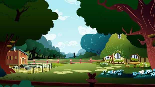 Fluttershy's backyard