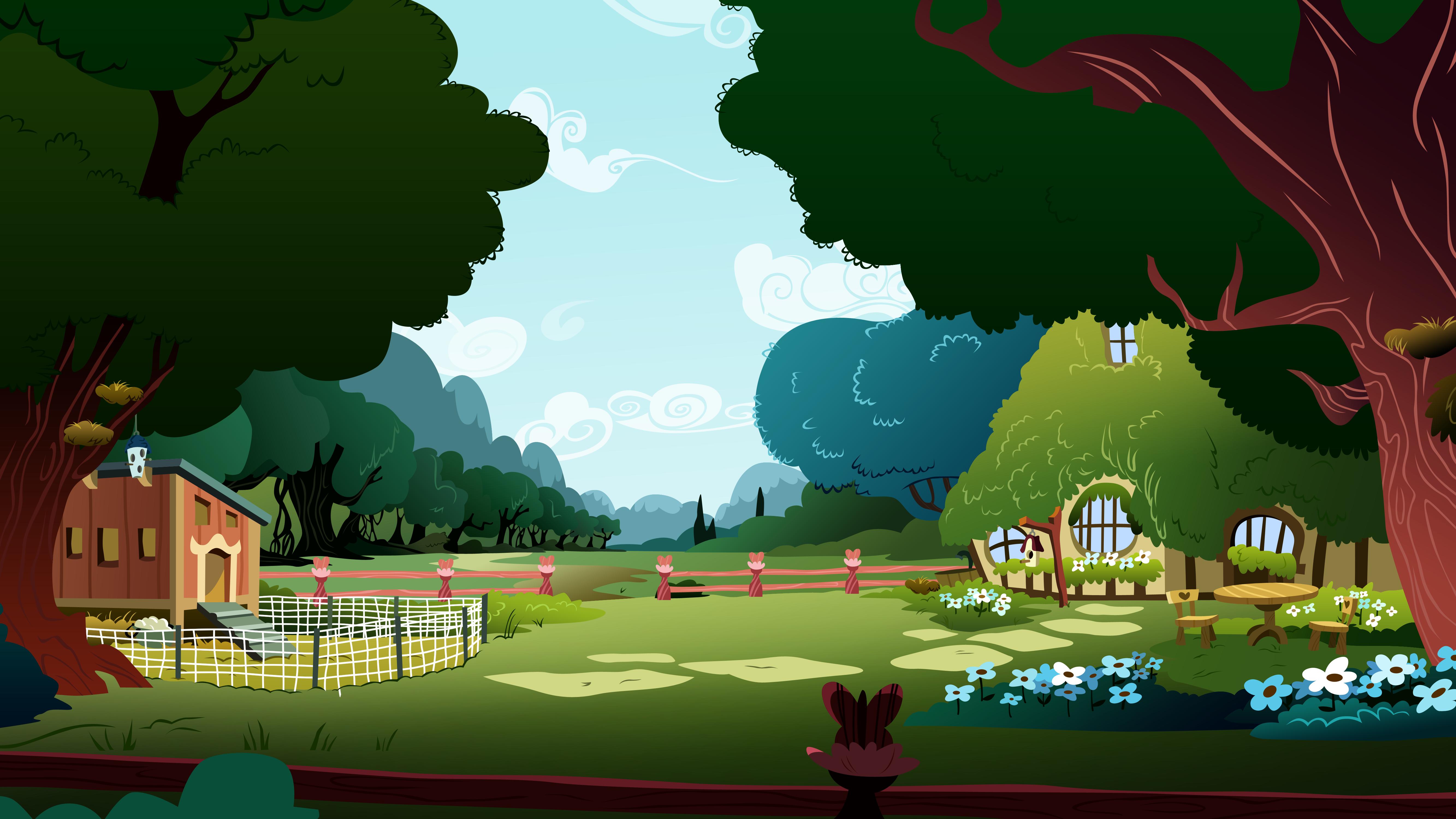 Fluttershy's backyard by Kooner-cz
