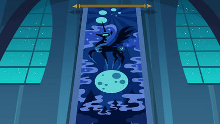 Nightmare Moon hallway by Kooner-cz