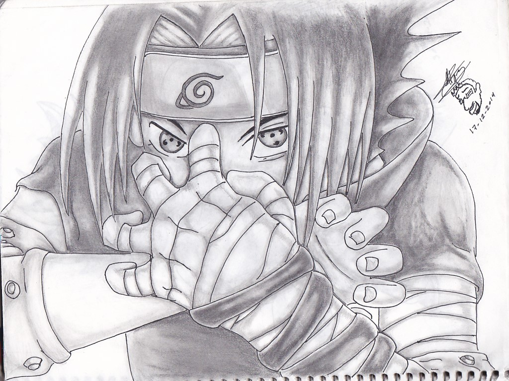 Sasuke A Lapiz By Martinjosegomez On Deviantart