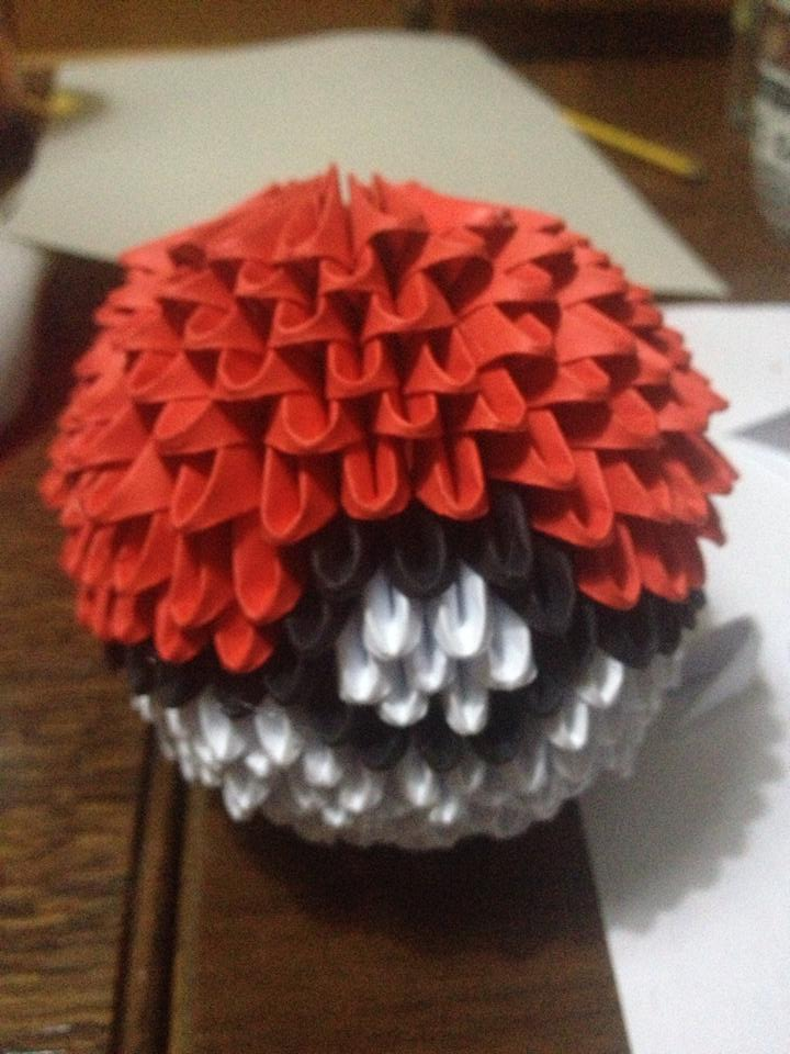 3d Origami Pokeball By Hayyelle On Deviantart
