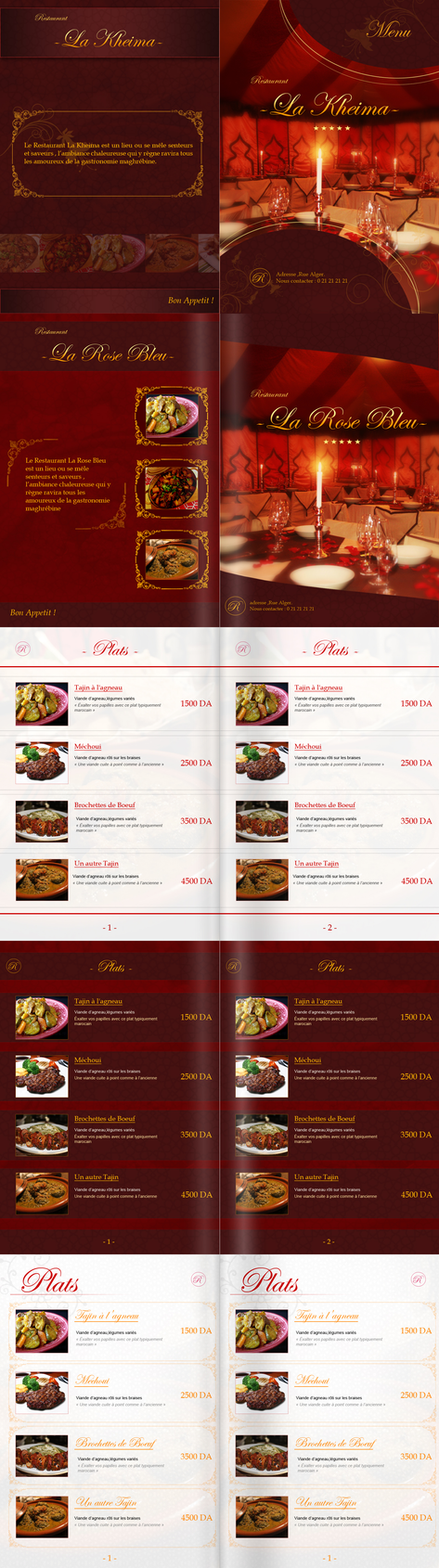 Restaurant menu design by yacine29 on deviantart for Artistic cuisine menu