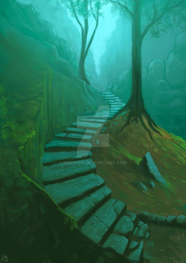 Woodstairway by Druakim