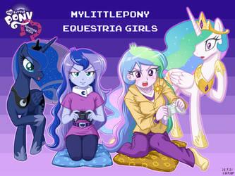 Equestria Girls Celestia and Luna by uotapo