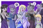 Grayish Ponies by uotapo