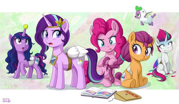 What r u doing, Pinkie?