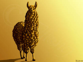 The King of Llamas by Ilionej